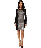 Karen Kane - Chevron Sequin Front Dress
