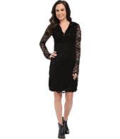 Stetson - Black Stretch Lace V-Neck Dress