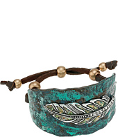 M&F Western - Hammered Feather Cuff Bracelet