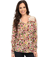 Roper - 9903 Printed Cotton Lawn Peasant Blouse