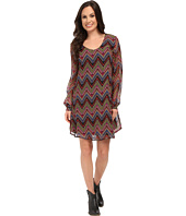 Roper - 9905 Aztec Printed Georgette A-Line Dress