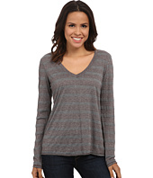 Michael Stars - Silver Lake Stripe Long Sleeve Vee Neck