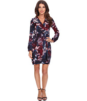 Adrianna Papell - Printed Tapered Wrap Dress