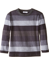 Dolce & Gabbana Kids - Printed Stripe Long Sleeve T-Shirt (Toddler/Little Kids)