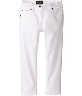 Dolce & Gabbana Kids - Mediterranean Five-Pocket Jeans in White/Denim (Toddler/Little Kids)