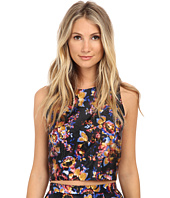 Nicole Miller - 3D Floral Poppy Crop Top