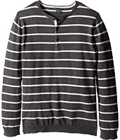 Vince Kids - Long Sleeve Striped Henley (Big Kids)