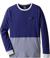 Vince Kids - Crew Neck Pocket Long Sleeve Tee (Big Kids)
