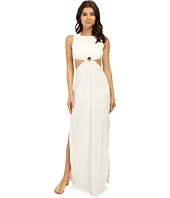 Michael Kors - Draped Solids Open Back Cover-Up Dress