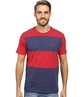 U.S. POLO ASSN. - Cut and Sewn Wide Stripe T-Shirt