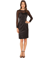 Tahari by ASL - Stretch Satin with Illusion Dress
