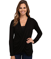 Miraclebody Jeans - Tobi Twisted Wrap Top w/ Body-Shaping Inner Shell