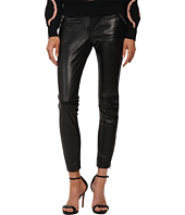 RED VALENTINO - Leather Pants with Jersey Ponte Panels