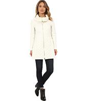 Via Spiga - Diamond Quilt Coat w/ Knit Collar