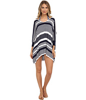 Tommy Bahama - High Low Striped Beach Sweater Cover-Up