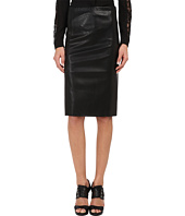 The Kooples - Straight Skirt in False Stretch Leather