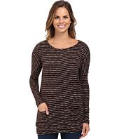 Mod-o-doc - Mini Stripe Sweater Seamed Boxy Pullover