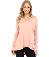 Karen Kane - Long Sleeve Asymmetrical Hem Wrap Top
