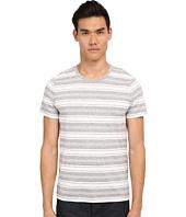 Vince - Short Sleeve Jaspe Stripe Crew Neck T-Shirt
