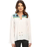 Hale Bob - Hot & Heavy In Havana Embroidered Blouse