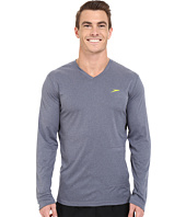 Speedo - Heather Long Sleeve V-Neck Swim Tee