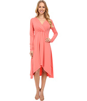Mod-o-doc - Cotton Modal Spandex Jersey 3/4 Sleeve Shirred Empire Hi-Low Dress