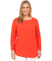 Vince Camuto Specialty Size - Plus Size Long Sleeve Top w/ Asymmetrical Overlay