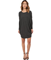 Michael Stars - Milano Jersey Long Sleeve Drape Dress w/ Pockets