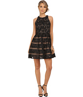 Aidan Mattox - Sleeveless Lace Cocktail Dress w/ Illusion