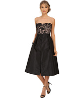 Adrianna Papell - Strapless Guipure Lace Bodice Taffeta Jumpsuit