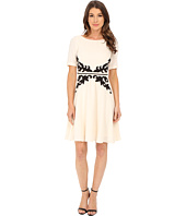 Adrianna Papell - Applique Fit and Flare Dress