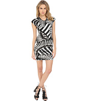Just Cavalli - Kraken Print Cap Sleeve Cocktail Dress