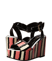 Just Cavalli - Striped Printed Leather and Patent Leather