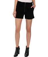 Blank NYC - Suede High Rise Shorts with Zipper