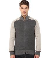 Agave Denim - Long Sleeve Full Zip Mock Neck Color Block Top