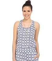 Jack by BB Dakota - Tosy Inkblot Stripe Printed Rayon Crepe Waterfall Tank Top