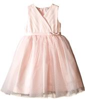 Us Angels - Satin & Point d' Espirit Sleeveless Pleated Bodice & Full Skirt (Toddler)