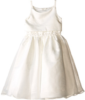 Us Angels - Sleeveless Satin Popver Bodice w/ Beaded Wasit & Full Skirt (Little Kids)