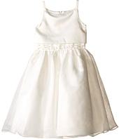 Us Angels - Sleeveless Satin Popver Bodice w/ Beaded Wasit & Full Skirt (Little Kids)