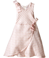 Us Angels - Brocade Sleeveless Dress w/ Satin Ribbon Trim (Infant)