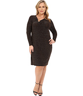 MICHAEL Michael Kors - Plus Size Asymmetrical Logo Ring Dress