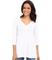 Mod-o-doc - Classic Jersey Lace Layover V-Neck Tee