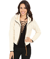 Free People - Cable Zip Front Hooodie