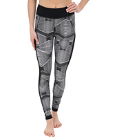 Zobha - Fitted Printed Leggings w/ Mesh Side Panels