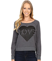 Life is Good - Love Stencil Marled Terry Crew Pullover