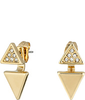 Rebecca Minkoff - Double Triangle Front to Back Earrings