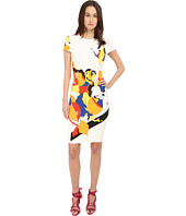Prabal Gurung - Multi Floral Lace Print Short Sleeve Dress