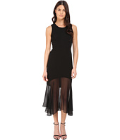 Prabal Gurung - Crepe Illusion Sleeveless Dress