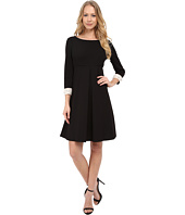 Donna Morgan - 3/4 Sleeve Crepe Shift with Jeweled Cuffs