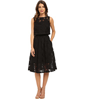 Donna Morgan - Sleeveless Two-Piece Embroidered Organze with Midi Skirt